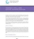Making a Will & Estate Administration