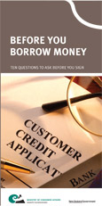 Before you borrow money
